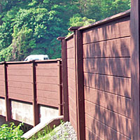 Hoover Treated Wood - PLYWALL® Noise Barrier Systems